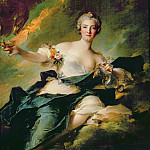 Jean Marc Nattier - A Portrait of Anne Josephe Bonnier de la Mossau (1718-1787) Duchess of Chaulnes, as Hebe the Goddess...