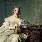 Jean Marc Nattier - Anne-Henriette de France, as the element of Fire