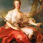 Jean Marc Nattier - Madame Bouret as Diana