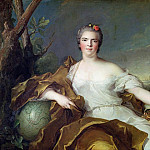 Jean Marc Nattier - Louise-Elisabeth de France, as the element of Earth