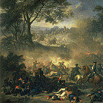 Jean Marc Nattier - The Battle of Poltava in 1709