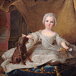Uffizi - Portrait of Marie-Zephyrine (1750-55) of France with her Dog