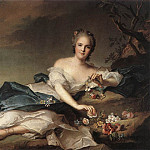 Francois Clouet - Henrietta Maria of France (1606-69) as Flora