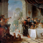 The repast of Sancho, governor of the Isle of Barataria, Charles-Joseph Natoire