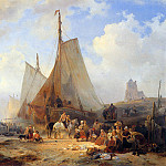 Wijnandus Nuyen - Fishingboats on the beach