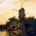 Wijnandus Nuyen - Waterland with mill