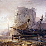 Wijnandus Nuyen - Ships in a French harbour
