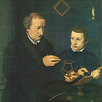 Nicolas Neufchatel - Portrait Of Johannes Neudorfer And His Son