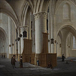 Interior of St Bavo in Haarlem, Isaak van Nickelen
