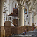 Interior of St. Bavo in Haarlem, Isaak van Nickelen