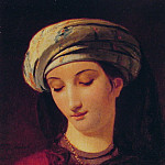 Francois Joseph Navez - Portrait of A Woman with a Turban