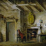 The Deans Cottage, stage design for The Heart of Midlothian