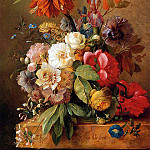 George Jacobus Johannes van Os - Still life with flowers