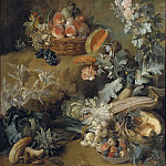 Still Life of Fruits and Vegetables