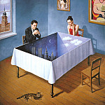 Rafal Olbinski - am-Rafal_Olbinski_Innocence_of_courteous_intentions