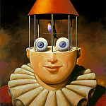 Rafal Olbinski - am-Rafal_Olbinski_.where_you_got_those peepers