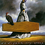 Rafal Olbinski - The_Visit_of_the_Old_Lady