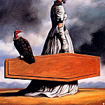 Rafal Olbinski - the visit of the old lady