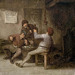 Peasants Drinking and Smoking