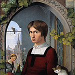 Narcisse Virgile Díaz de la Peña - Portrait of the Painter Franz Pforr