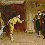 Sir William Quiller Orchardson - The Challenge: A Puritans Struggle between Honour and Conscience