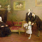 Sir William Quiller Orchardson - The Four Generations, Windsor Castle, (Queen Victoria (1819-1901), Edward VII (1841-1910)