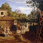 Theodor Hildebrandt - The vineyard of the Archpriest in Olevano