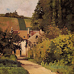 Camille Pissarro - Village Church. (1868)
