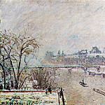 Camille Pissarro - The Seine Viewed from the Pont-Neuf, Winter. (1902)
