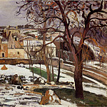 Camille Pissarro - The Effect of Snow at lHermitage, Pontoise. (1875)
