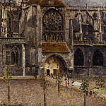 Camille Pissarro - Portal from the Abbey Church of Saint-laurent. (1901)