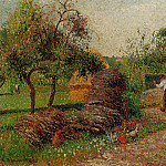 Camille Pissarro - Mother Luciens Yard. (1895)