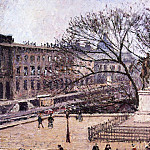 Camille Pissarro - The Treasury and the Academy, Gray Weather. (1903)