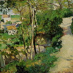 Camille Pissarro - The Rising Path, Pontoise. (1875)