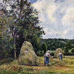 Camille Pissarro - The Harvest at Montfoucault 2. (1876)