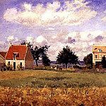 Camille Pissarro - The Red House. (1873)