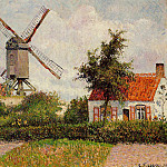 Camille Pissarro - Windmill at Knocke, Belgium. (1894)