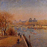 Camille Pissarro - The Louvre - Winter Sunshine, Morning. (1900)