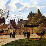 Camille Pissarro - The Court House, Pontoise. (1873)