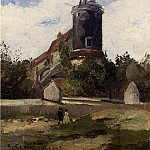 Camille Pissarro - The Telegraph Tower at Montmartre. (1863)