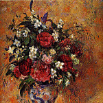 Camille Pissarro - Vase of Flowers. (1877-78)