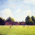Camille Pissarro - Hampton Court Green, London. (1891)