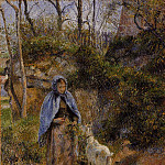 Camille Pissarro - Peasant Woman with a Goat. (1881)
