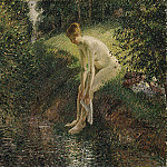 Camille Pissarro - Pissarro Bather in the Woods 1895