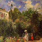 Camille Pissarro - The Garden at Pontoise. (1877)
