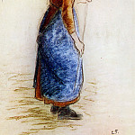 Camille Pissarro - Study for the apple picker