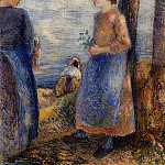 Camille Pissarro - By the Water. (1881)