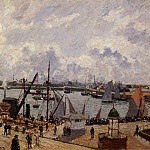 Camille Pissarro - The Inner Harbor, Le Havre - Morning Sun, Rising Tide. (1903)