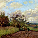 Camille Pissarro - Landscape with a Cowherd. (1872)