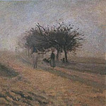 Camille Pissarro - Misty Morning at Creil. (1873)